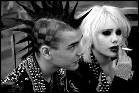 The punk movement - an attempt to be heard and seen above and beyond the crowd.