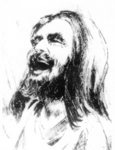 A portrait of Jesus laughing from the Latin American Christian tradition. Source unknown.