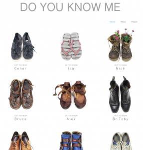Some of the shoes which featured in Katrin's installation, a social documentary recording the ways in which we walk through life.